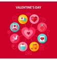 Concept Happy Valentine Day vector image