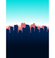Contour of the big city on a blue background vector image