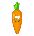 cute cartoon carrot character vector image vector image
