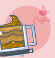 delicious coffee concept vector image