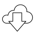 download from cloud thin line icon cloud and vector image