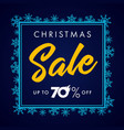 elegant merry christmas sale lettering blue vector image vector image