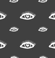 eyelashes sign Seamless pattern on a gray vector image vector image
