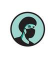 female nurse wearing black mask mascot vector image