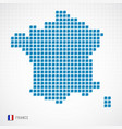 france map and flag icon vector image