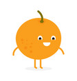 fruit orange cute fruit character vector image vector image