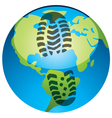 global footprint vector image vector image