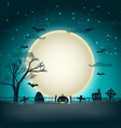 halloween background with moon ball vector image