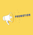 hand holding megaphone with loudspeaker for vector image vector image