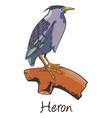 heron color vector image