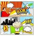 High detail mock-up of typical comic book vector image