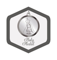 holy medal design vector image vector image