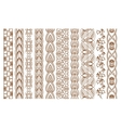 Indian Henna Seamless Borders vector image vector image