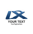initial letter ix logo template colored blue vector image vector image