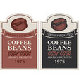 labels for freshly roasted coffee beans vector image