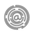 line at symbol of web addres to internet vector image vector image