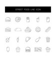 line icons set street food pack vector image vector image