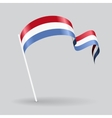 Luxembourg wavy flag vector image