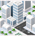 megapolis 3d isometric vector image