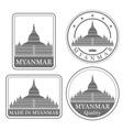 Myanmar vector image vector image