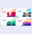 nature brochure cards set ecology template vector image vector image