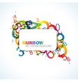 number rainbow vector image vector image