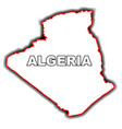 outline map of algeria vector image vector image