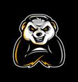 panda mascot vector image vector image