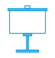 portable whiteboard symbol vector image vector image