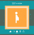 pregnant woman icon vector image vector image