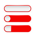 red menu buttons 3d oval web icons vector image