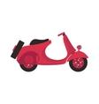 Retro motorbike isolated vector image vector image