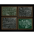 School blackboards set vector image vector image