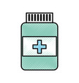scribble pill bottle vector image