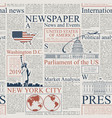 seamless pattern on the theme of us newspapers vector image vector image