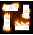 Set of advertisement banners with spurts flame vector image vector image