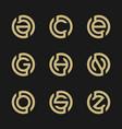 set of modern letter logo design vector image vector image