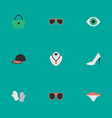 set of simple equipment icons elements eye vector image vector image