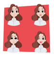 set of womans emotions vector image