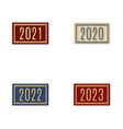 set stamps with numbers vector image vector image