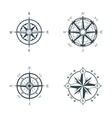 set vintage or old different style compasses vector image vector image