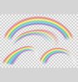 shine rainbow set rainbows isolated vector image