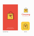 shopping bag company logo app icon and splash vector image vector image