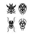skull tribal tattoo vector image