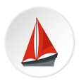 Small yacht icon flat style vector image vector image