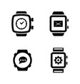 smart watches simple related icons vector image vector image