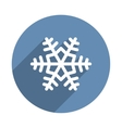 Snowflake Icon in Flat Design Style vector image vector image
