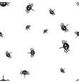 spider eyed halloween pattern seamless vector image