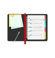 Spiral notepad notebook with to do list and pencil vector image vector image