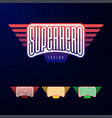sport emblem typography super hero logotype vector image vector image